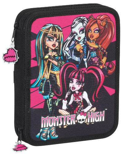 Monster High -Plumier Doble Grande 55 pza