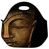 Snoogg Buddha Actual Travel Outdoor Carry Lunch Bag Picnic Tote Box Container Zip Out Removable Carry Lunchbox Handle Tote Lunch Bag Food Bag For School Work Office