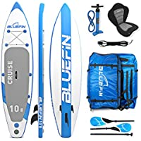 Bluefin Tabla de Paddle Surf Hinchable Híbrida Convertible en Kayak con Tabla Stand Up Paddle Sup, Bomba, Remo Convertible, Asiento y Alerón Desmontables, Leash, Llave de Válvula - Hasta 190 Kg 330 cm