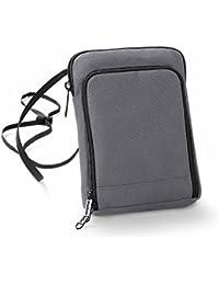 Bag base - pochette tour de cou papiers passeport voyage BG47 - gris graphite