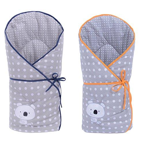 Sevira Kids - Gigoteuse d'emmaillotage Multi-Usage en 100% coton certifié - Nid d'ange naissance KOALA, différent coloris