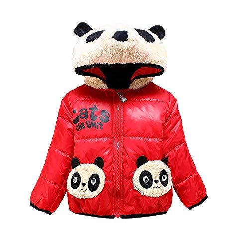 Jamicy Baby Mantel, Frühling Herbst Winter Oberbekleidung Kinder Jacke Mantel Schneeanzug für Kind Baby Boy (Rot, 90)