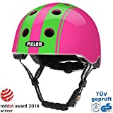 Melon Urban Active, casco di design da ciclismo, skater e per BMX, comprensivo di accessori in coordinato e coprisella, (Double Green Pink), XL-XXL (58-63cm)