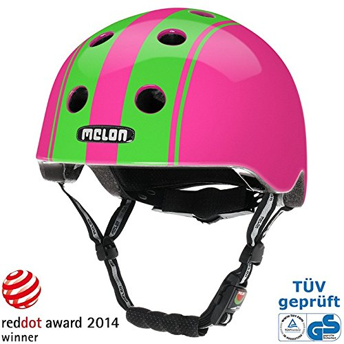 Melon Helm double green pink - Fahrradhelm, Skaterhelm, BMX Helm, Größe:XL-XXL (58-63cm)