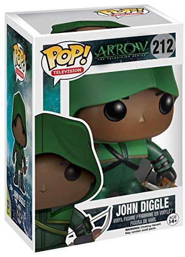 Funko–pdf00005610–Pop–DC Comics–Arrow–John Diggle–Limitierte Edition 212–Schwarz/Grau (Sammelkarten Dc)