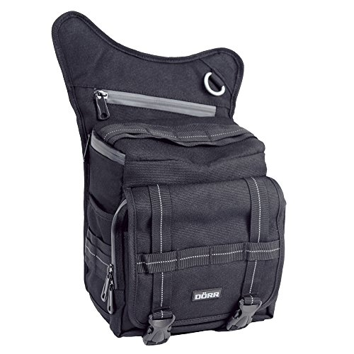 DÖRR Fototasche PARKOUR Large schwarz für kompakte DSLR Kamera, 2-3 Standard-Objektive und Blitzgerät