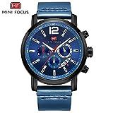 HWCOO Armbanduhren Mini Focus/Uhr Herren Kalender mit DREI Kleinen Zifferblättern Quarzuhr Uhr Armbanduhren (Color : 2)
