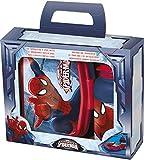 Joy Toy 759473 - Spiderman Set: Jausenbox, Trinkflasche 440 ml in Attraktiver Geschenkpackung, 7.5 x 22 x 17.5 cm