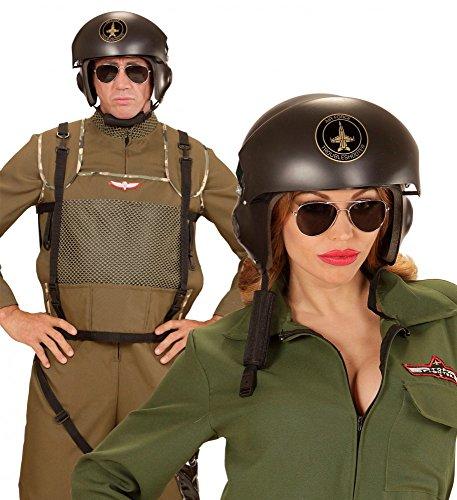 shoperama Jetpiloten-Helm für Erwachsene Pilotenhelm Kampfpilot Pilot ()