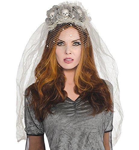 Haarreif mit Schleier - für Geister Zombie Braut Halloween (Kostüm Zombie Geist Halloween)
