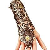 EROSPA® Gothic Steampunk Handstulpe mit Brosche - Handschuhe - Damen - Gold / schwarz - 1 Stück