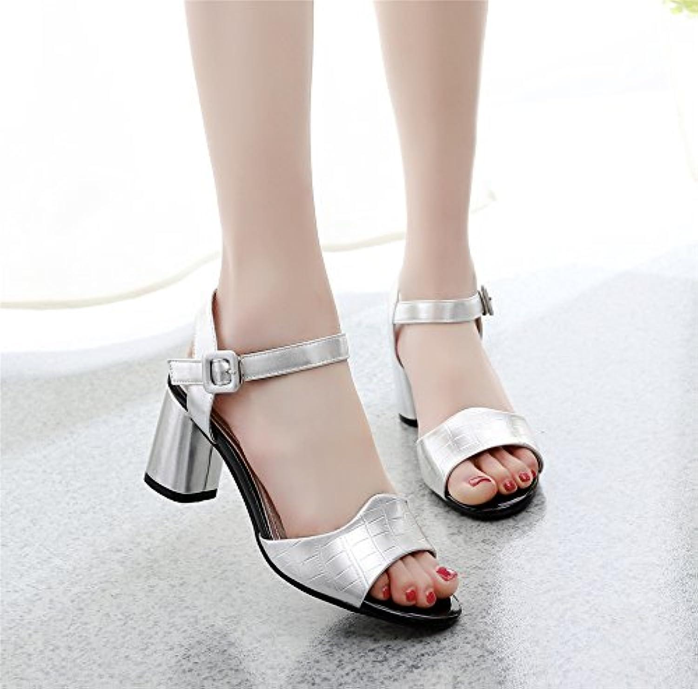 GTVERNH-i GTVERNH-i GTVERNH-i sandali donna summer ruvida tallone - punta 6cm scarpe una fibbia corrisponde tutto scarpe da lavoro... | Costi medi  | Scolaro/Signora Scarpa  7ead31