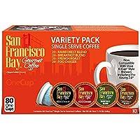 San Francisco Bay Bahía de San Francisco OneCup, Variety Pack, 80 Solo sirven cafés