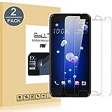 EasyULT Vitre HTC U11 Verre Trempé [2-Pièces],HTC U11Film Protection Écran Protecteur d'écran Vitre Tempered Screen Protector