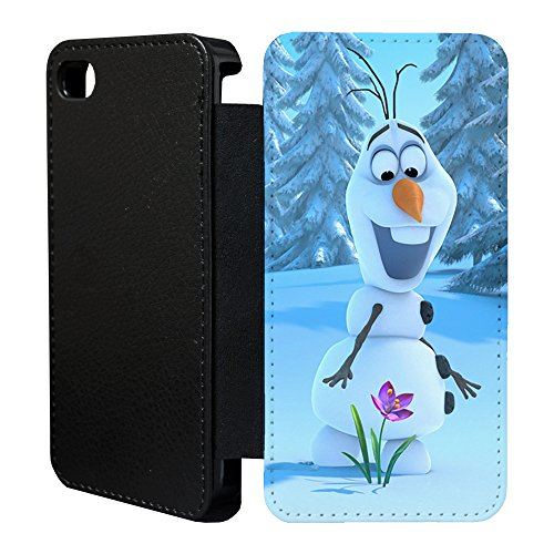 Price comparison product image Frozen Flip Case Cover for Apple iPhone 6 & 6S - G1407 - Olaf Finds Flower