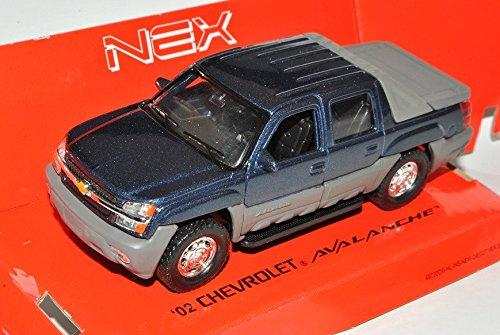 chevrolet-chevy-avalanche-2002-pick-up-blau-ca-1-43-1-36-1-46-welly-modell-auto-mit-individiuellem-w