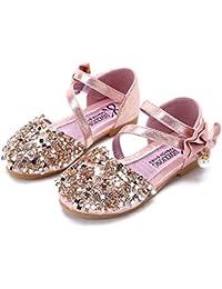 Zapatos de niños, Calzados/Zapatillas/Sandalias de niños Sandalias para niñas bebés Princesa de Lentejuelas Zapatos Punta Suave Inferior Sandalias de Enlace