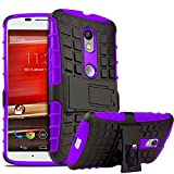Chevron Shock Absorption Hybrid Armor Protection Defender Back Cover Case For Motorola Moto X Style (Purple) best price on Amazon @ Rs. 99