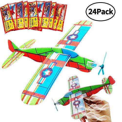 BESTZY Glider Planes, Plane Glider, Foam Glider Plane, Glider Plane Toy Gliding Flugzeuge für Kinder ALS Preis und Geschenk für den Kindergeburtstag (Glider Plane 24P) (Toy Glider Flugzeuge)