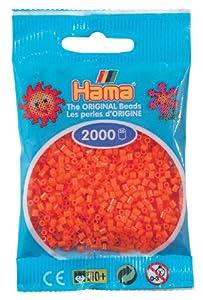 Desconocido Hama Perlen 501-04 - Mini Perlas, Naranja 2000 Piezas Importado de Alemania
