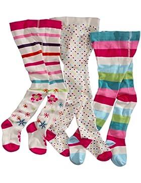 wellyou, Kinder-Strumpfhosen für Mädchen 3er Set, Baby-Strumpfhosen ecru, hoher Baumwoll-Anteil