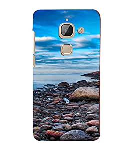 PrintVisa Pebble Beach Design 3D Hard Polycarbonate Designer Back Case Cover for LeEco 2S