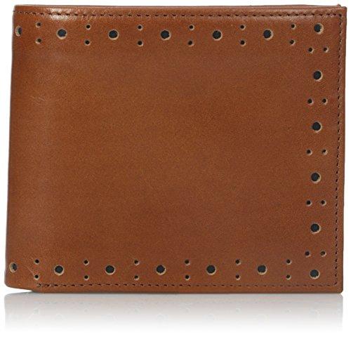 Tan perforado Brogue Billetera cartera Fred Perry