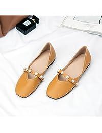 GAOLIM Solo Zapatos Primavera Hembra Cuadrado Plano Luz-Abuela Zapatos Zapatos Zapatos De Mujer Estudiante Wild...