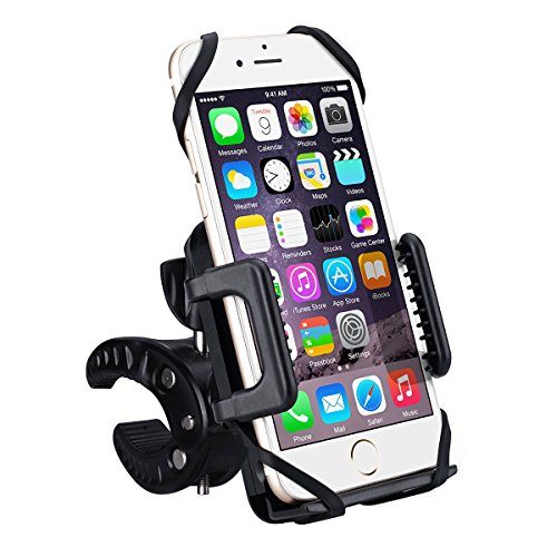 Handyhalterung Fahrrad, VTIN 360 Grad drehbare Universal Fahrrad Motorrad Halter Handyhalter mit Kautschuk-Armband für iPhone7/7Plus 6/6S/6Plus 5S/4S Samsung Galaxy S5/S4/S3