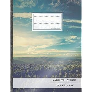 Kariertes Notizbuch • A4-Format, 100+ Seiten, Soft Cover, Register, Mit Rand,