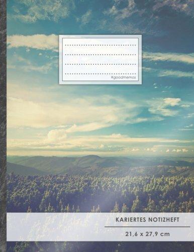 """Kariertes Notizbuch • A4-Format, 100+ Seiten, Soft Cover, Register, Mit Rand, """"Freiheitlich"""" • Original #GoodMemos Quad Ruled Notebook • Perfekt als Matheheft, Skizzenbuch, Arbeitsheft, Tagebuch"""