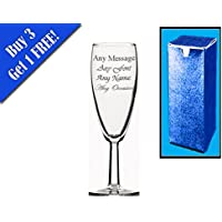 Incisione personalizzata Short Flute da champagne matrimonio regalo di compleanno