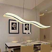 LED Lustre, Suspension LED,lustre design contemporain 38W Moderne Lampe Acrylique Lustres pour salon, chambre, salle à manger, cuisine, 3000k,blanc chaud