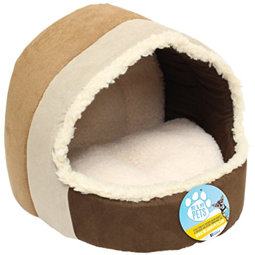 Me & my pets cuccetta igloo per gatto, marrone e beige