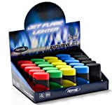 25 x Atomic Elektronik Feuerzeug ExclusiveBlaue Jetflamme Nachfüllbar Rubber Sortiert