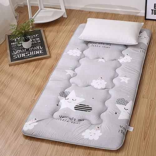 Lt giapponese tatami pavimento tappetino per dormire addensare, traspirante pieghevole futon coprimaterasso portatile materasso imbottito dormitorio casa ufficio-b 80x190cm(31x75inch)
