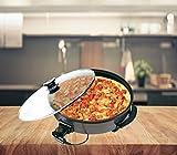 XXL elektrische Pizzapfanne Elektropfanne mit Marmor Keramik Beschichtung nutzbar als Partypfanne , Multipfanne oder elektrischer Tischgrill sowie Paellapfanne (L 36 x 7)