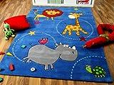 Lifestyle Kinderteppich Blau Zoo in 3 Größen !!! Sofort Lieferbar