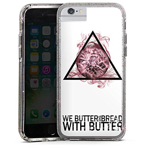 Apple iPhone 7 Bumper Hülle Bumper Case Glitzer Hülle We Butter The Bread with Butter Fan Article Merchandise Merchandising Pour Supporters Bumper Case Glitzer rose gold