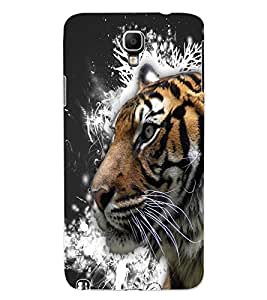 ColourCraft Tiger Look Design Back Case Cover for SAMSUNG GALAXY NOTE 3 NEO DUOS N7502