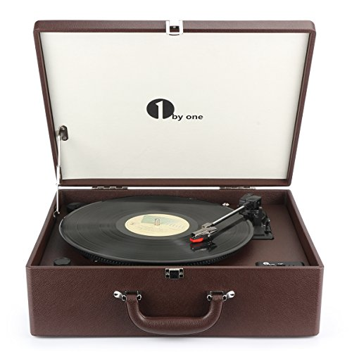 1byone platine vinyle transportable tourne disque 3 vitesses avec enceintes interne bluetooth. Black Bedroom Furniture Sets. Home Design Ideas