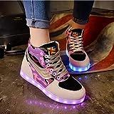 Damen comauflage hohe Spitze LED-helle Schuhe Art und Weise synthetische...