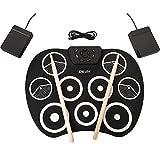 Elisson aparecido Rosa 1992tragbar Elektronische Drum-Set, USB Power 9Pad zusammenklappbar üben Digital Drum Kit Musical Instrument Entertainment für Kinder Anfänger (Kopfhörer/Lautsprecher erforderlich für Einsatz)