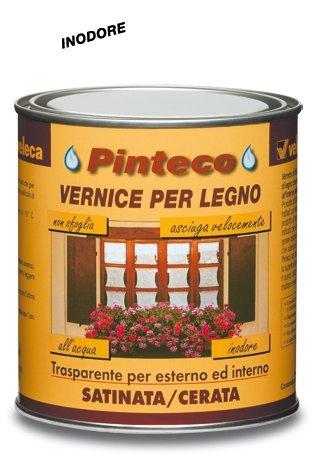 Veleca 8002417040640 Pinteco, Vernice per Legno, Trasparente