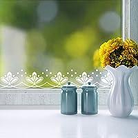Bluelover 240cm finestra vetrina pizzo decalcomania adesivi romantico bianco floreale