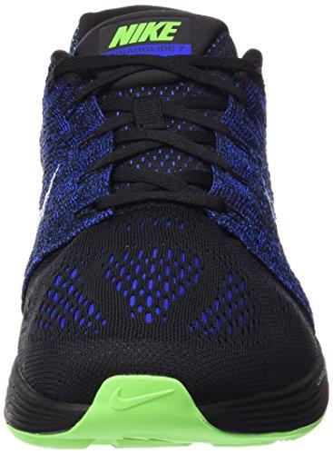 Nike - Lunar Glide 7 Herren Laufschuh (schwarz/dunkelblau) current blue/electric green