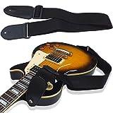 Nylon Schwarz Verstellbare Enden Gitarrengurt für Elektro Akustik Gitarre Bass