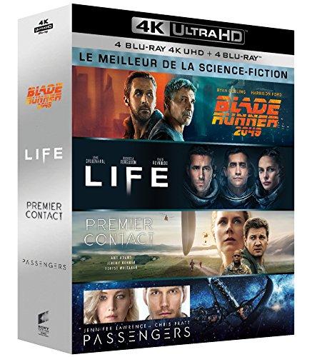 Meilleur de la science-fiction - Coffret : Blade Runner 2049 + Life : origine inconnue + Premier contact + Passengers [4K Ultra HD + Blu-ray]
