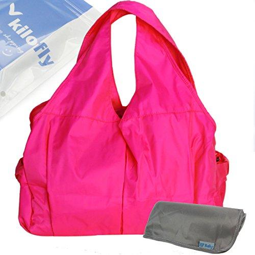 Preisvergleich Produktbild KF Baby Urbane Wickeltasche (Hot Pink) + Wickelunterlage Wert Combo