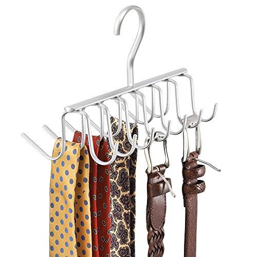 Mdesign porta cravatte e portacinture con 14 ganci - Portacinture da armadio ikea ...